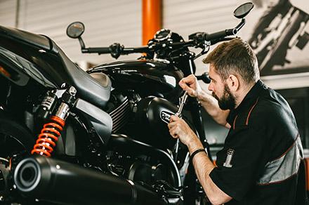 Details de la mecanique d une moto